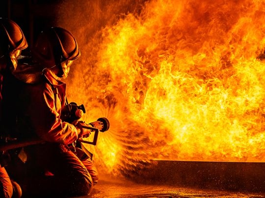 Stock Fire Firefighter