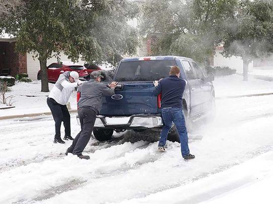 US  STORM ICE SNOW TEXAS