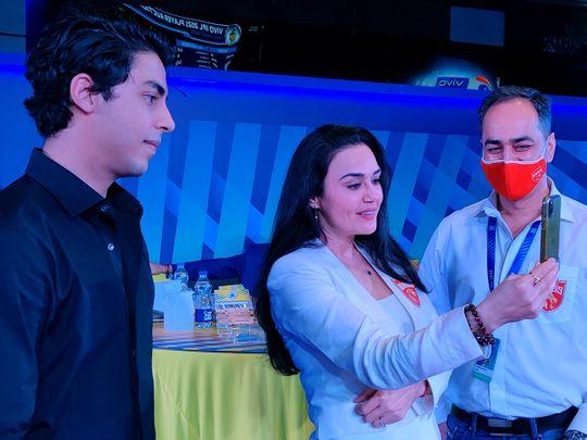 Aryan Khan and Preity Zinta at the IPL auction