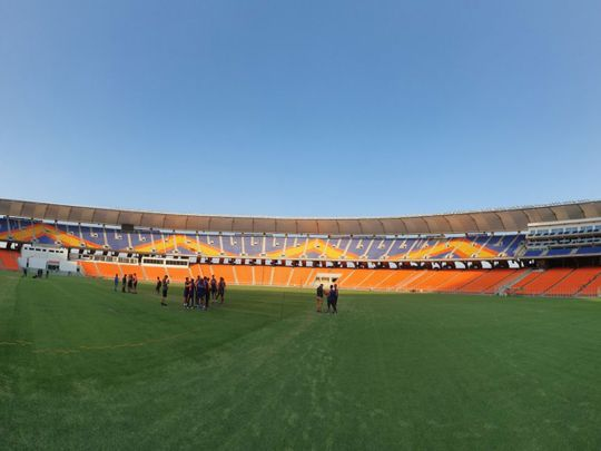 India and England are training at the Motera Stadium