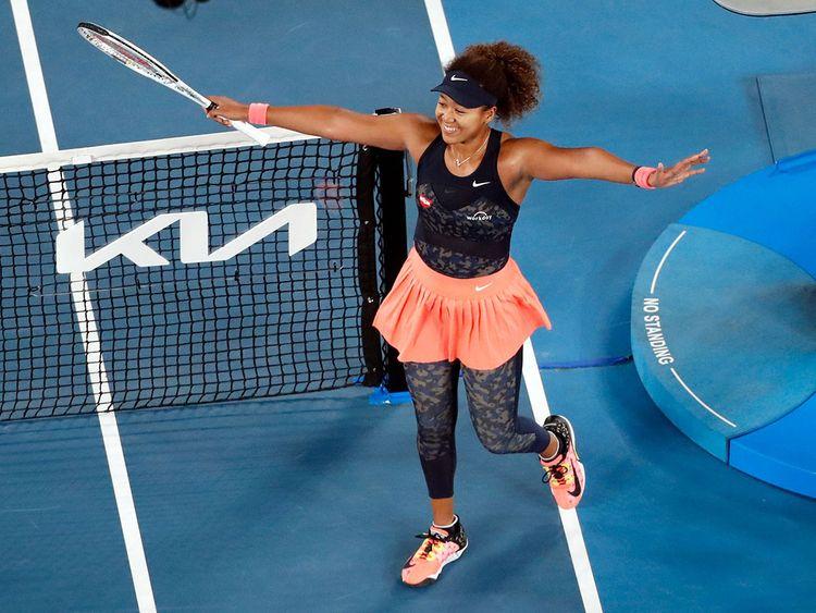 Naomi Osaka on her way to Australian Open victory over Jennifer Brady