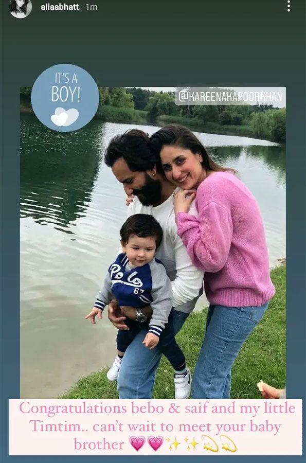 Alia Bhatt congratulates Kareena and Saif