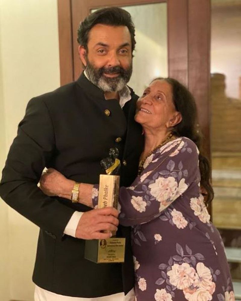 Bobby Deol with his mother