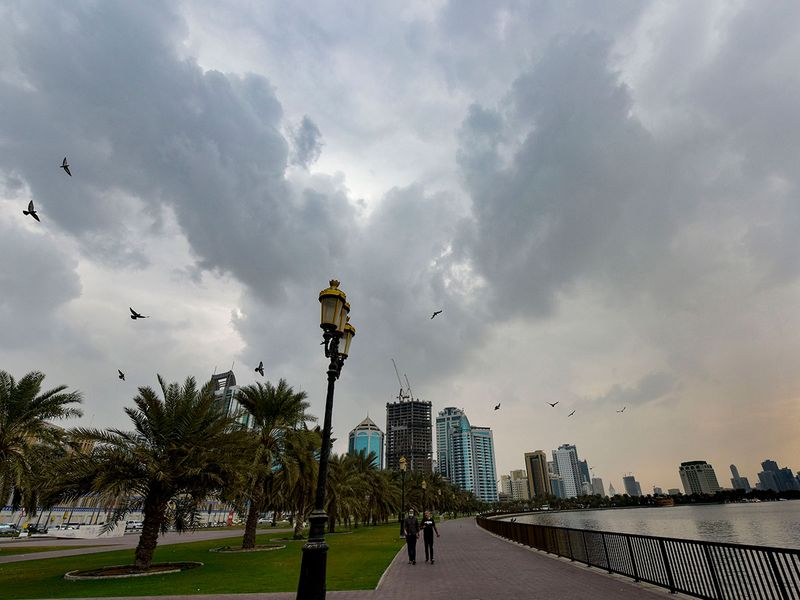 Cloudy weather in Sharjah.