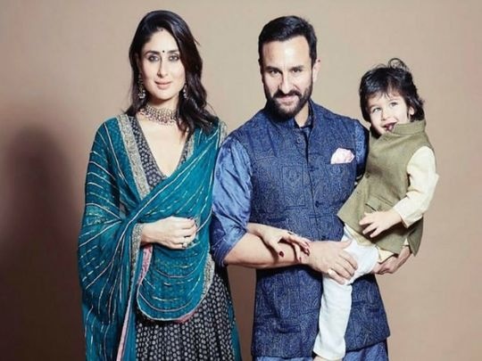 Kareena Kapoor Khan, Saif Ali Khan and Taimur Ali Khan