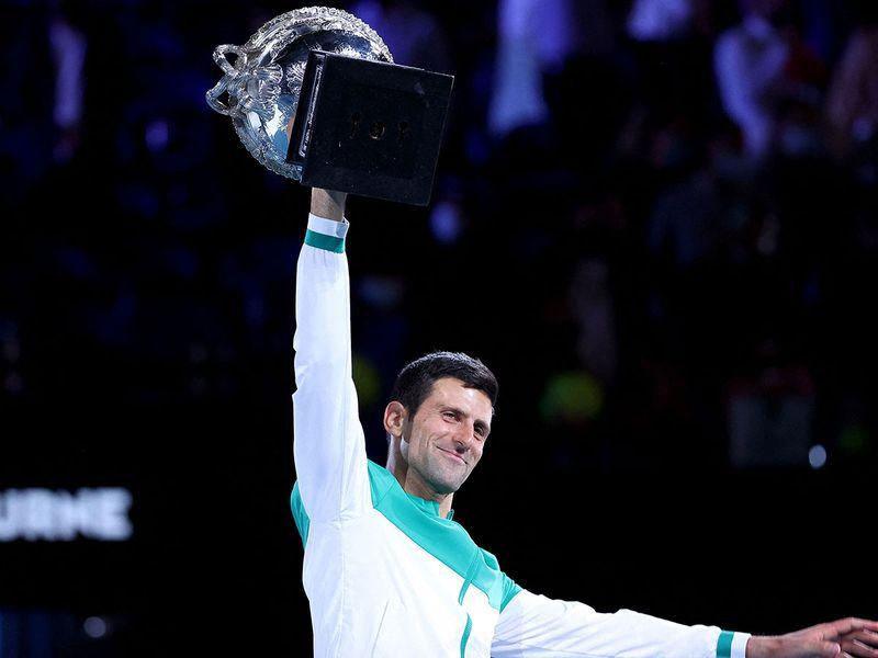 Novak Djokovic claims his ninth Australian Open trophy