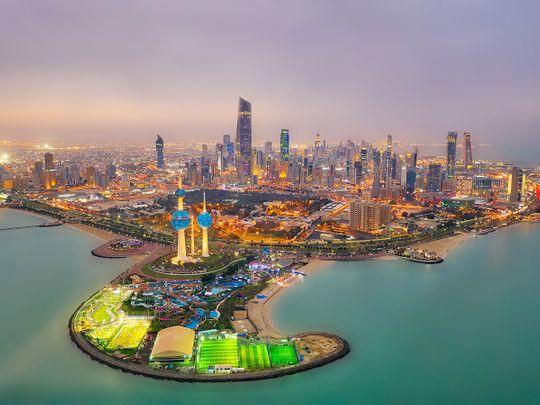 Stock Kuwait City skyline