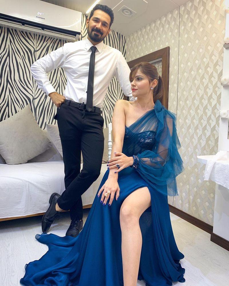 Bigg Boss 14 winner Rubina Dilaik with her husband Abhinav Shukla