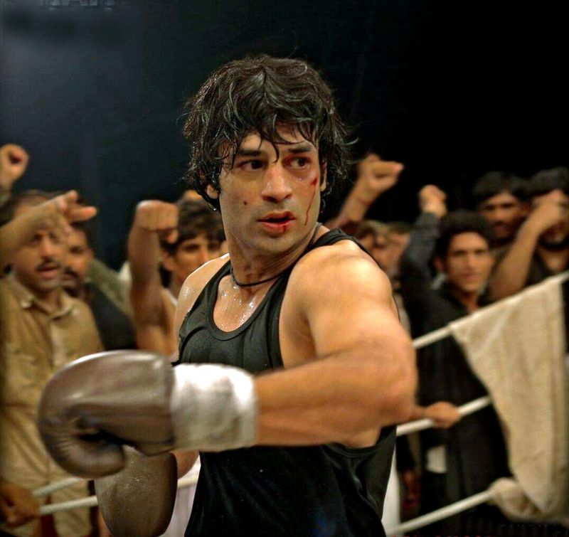 Director Adnan Sarwar in another picture from the 2015 boxing movie SHAH-1613993691147