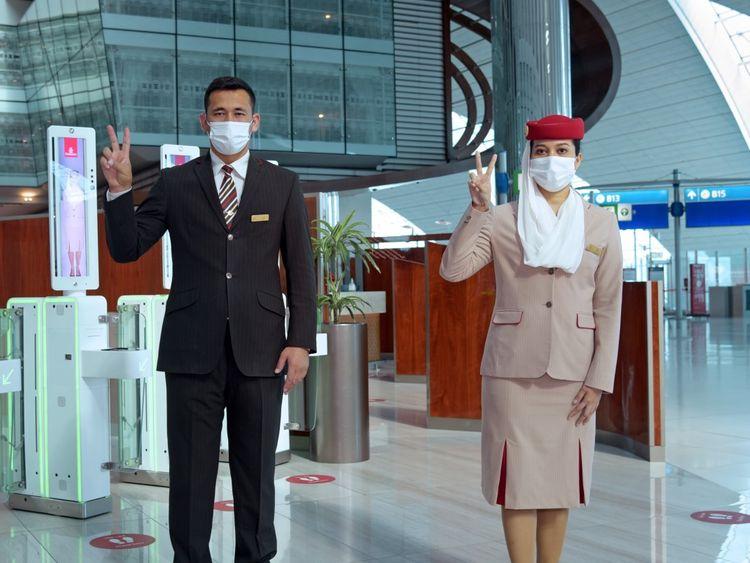 Emirates vaccine staff