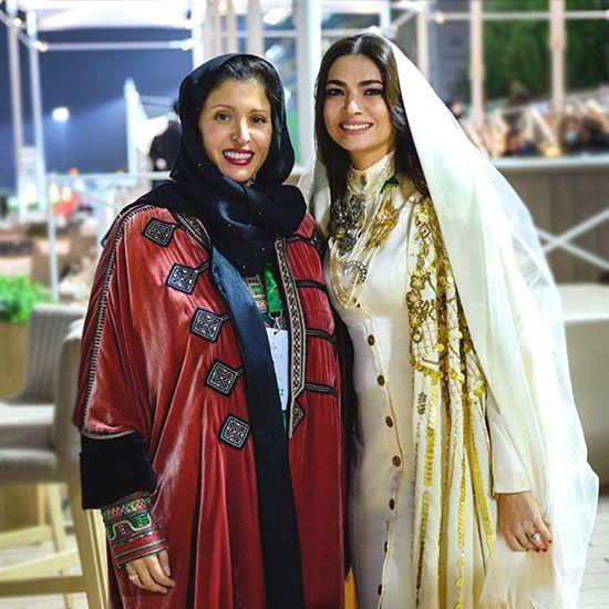 From left: Princess Noura bint Mohammed Al Faisal Al Saud and Honayda Serafi.