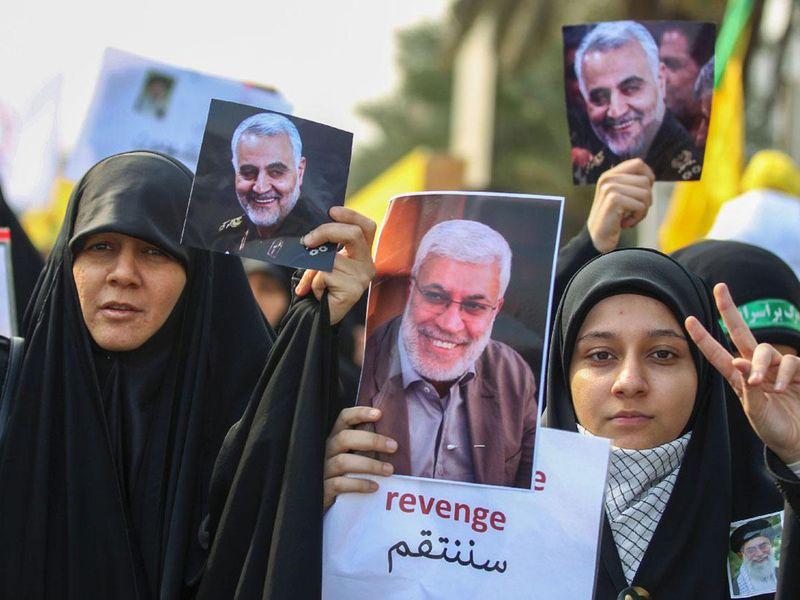 IRAN-MOURNING FOR Soleimani AND Abu Mahdi-1613990767113