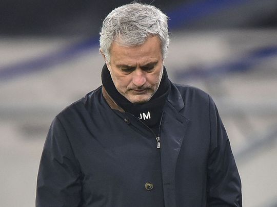 Jose Mourinho's Tottenham lost to West Ham United