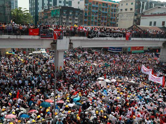 Myanmar protesters