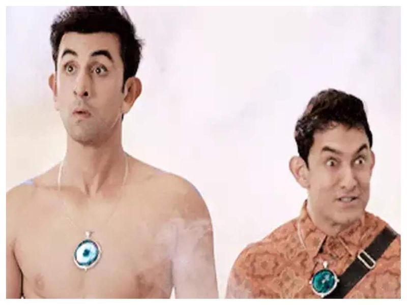 Ranbir Kapoor and Aamir Khan in PK