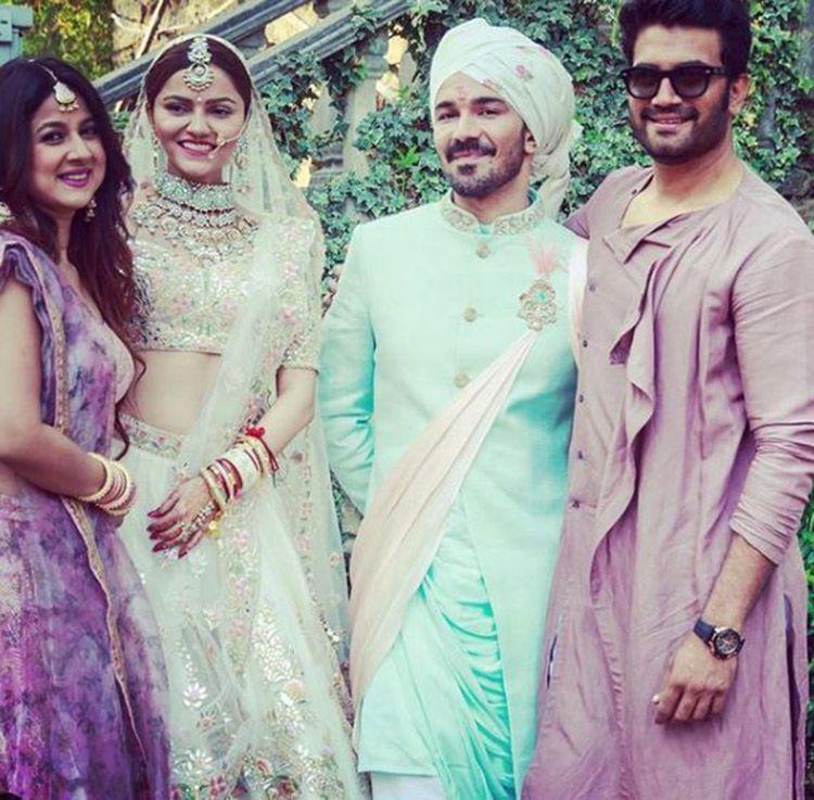 Rubina Dilaik and Abhinav Shukla at their wedding