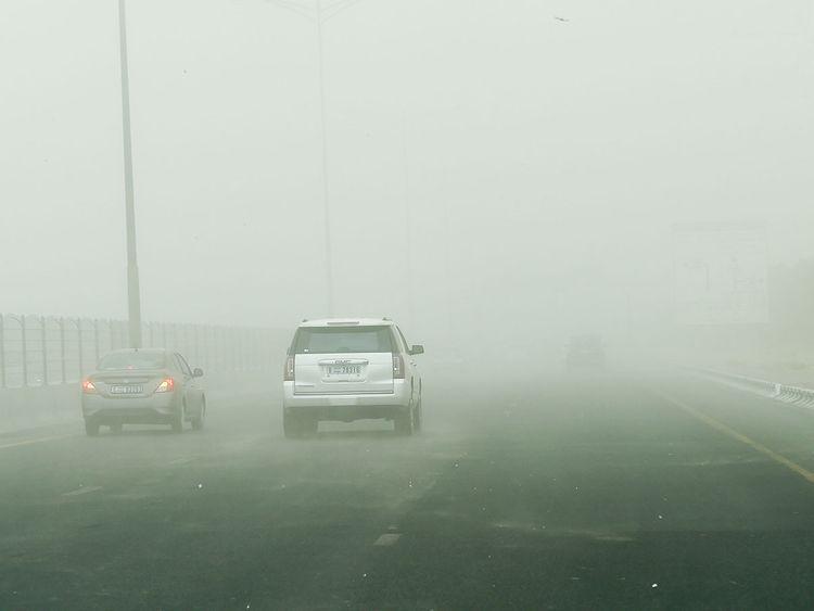 UAE weather: Dust alert in Abu Dhabi, Al Ain, hazy in Dubai, rain in Sharjah, Abu Dhabi   Weather – Gulf News