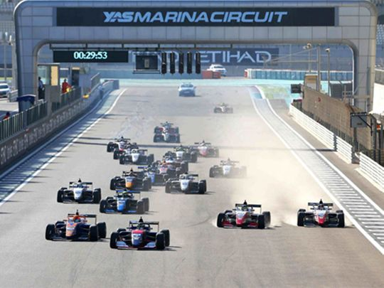 Abu Dhabi Racing's Chinese driver Guanyu Zhou won the Formula 3 Asian Championships