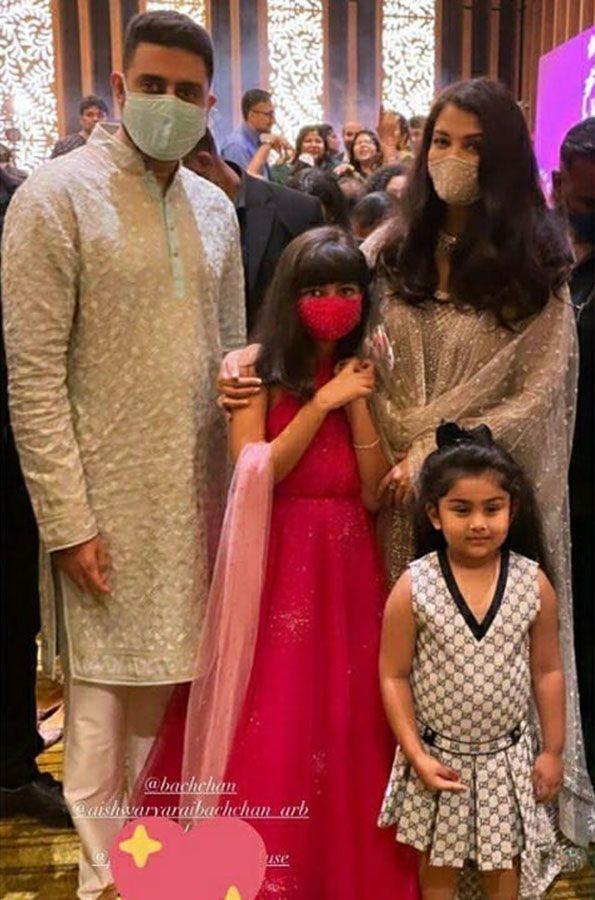 Aishwarya Rai, Abhishek Bachchan and Aaradhya