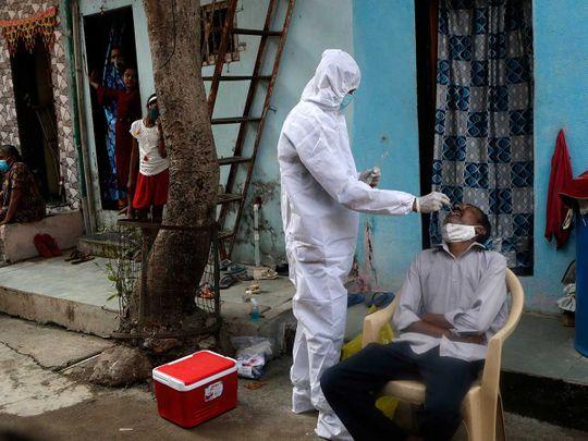 Dharavi health worker swab covid