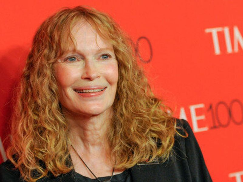 FILE - In this April 21, 2015 file photo, Mia Farrow attends the TIME 100 Gala in New York. Farrow took some Twitter heat Wednesday, July 29, for joining other angry social media posters and blasting out the business address of the dentist who killed the beloved lion Cecil in Zimbabwe. AP File