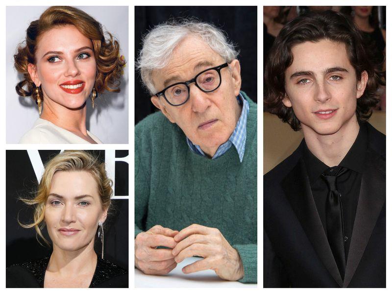Scarlett Johansson, Kate Winslet, Woody Allen and Timothee Chalamet