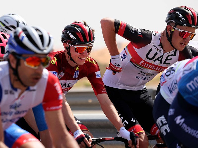 Tadej Pogacar won Stage 3 of the UAE Tour on Jebel Hafeet