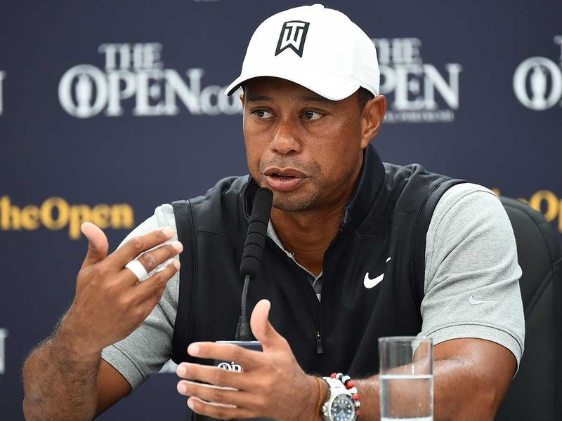 """2020: Coronavirus shuts down golf, meaning Tiger cannot defend his Masters title. He has a fifth back surgery, a microdiscectomy, to remove """"a pressurised disc fragment"""" that was pinching his nerve and causing """"discomfort""""."""