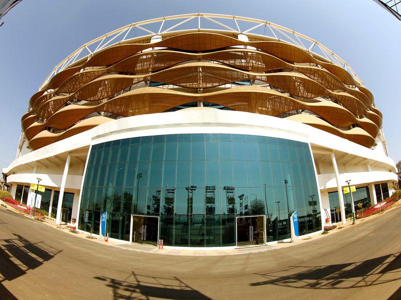 A view of Motera Stadium,