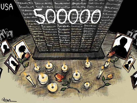 Half million deaths US COVID 500000