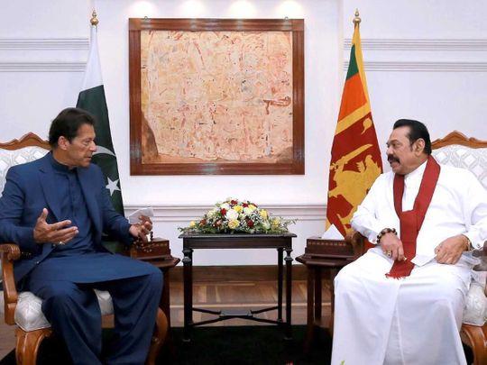 Imran Khan Mahinda Rajapakse Pakistan Sri Lanka