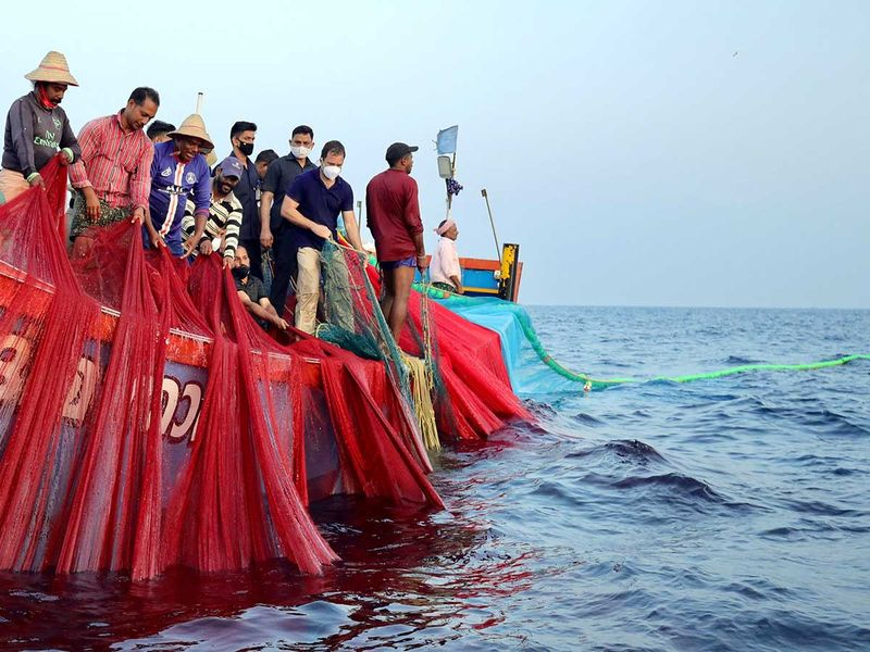 Rahul Gandhi Kerala fishermen