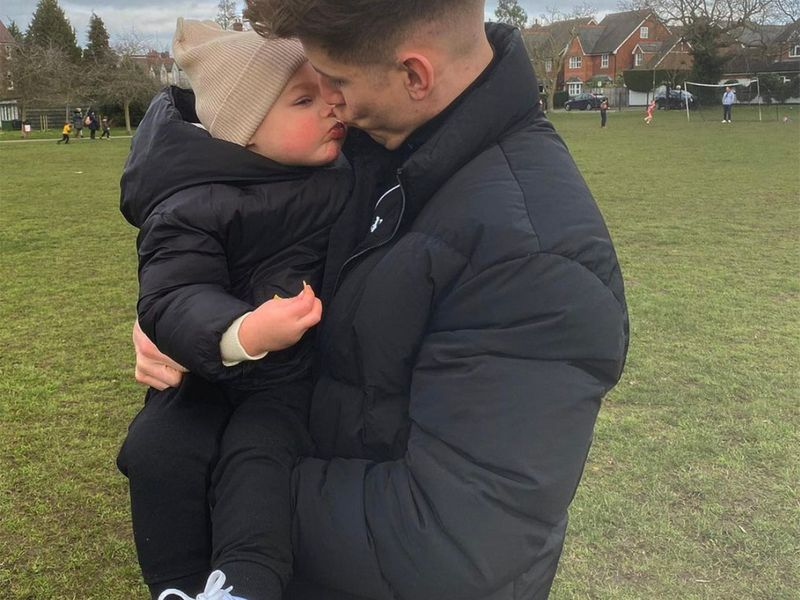 Thomas Cairney gets his fill of family time.