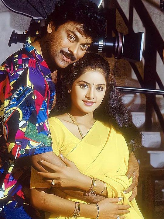 Divya Bharti and Chiranjeevi