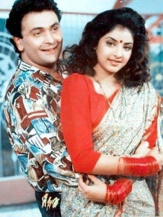 Divya Bharti and Rishi Kapoor