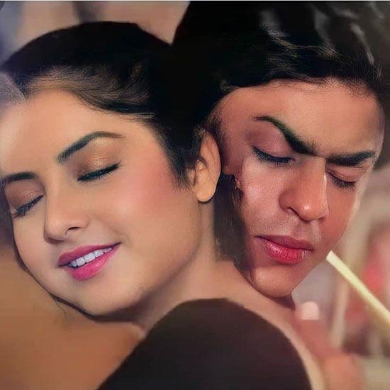 Divya Bharti and Shahrukh Khan