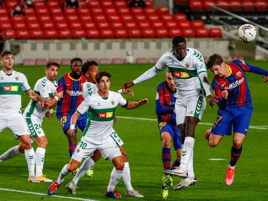 Football-Barcelona vs Elche