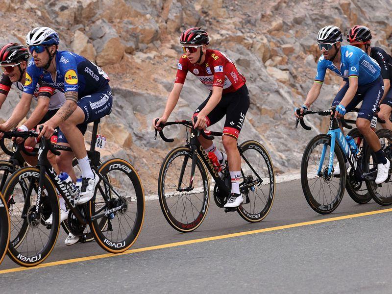 Jonas Vingegaard wins Stage 5 of the UAE Tour at Jebel Jais. Tadej Pogacar