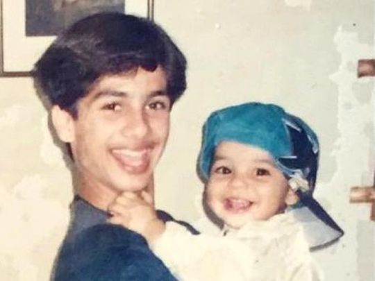 Shahid Kapoor and Ishaan Khatter in a throwback picture