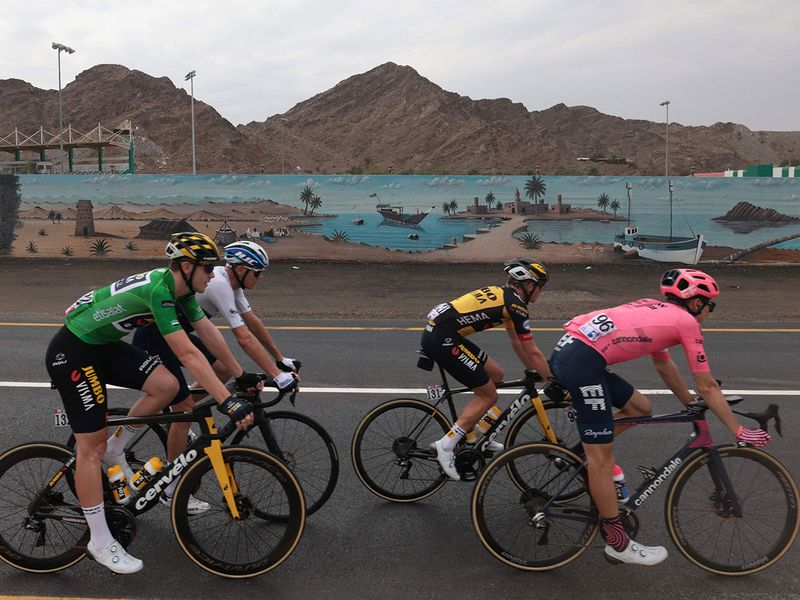 Stage 5 of the UAE Tour at Jebel Jais