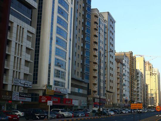 Stock Fujairah skyline
