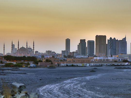 Stock Fujairah skyline