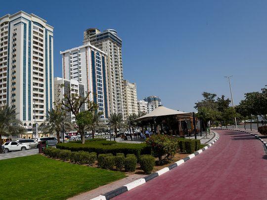 Stock RAK Ras Al Khaimah skyline market