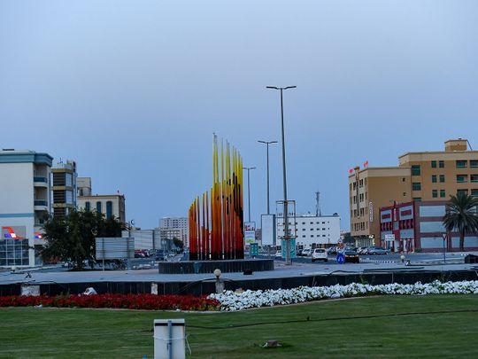 Stock Umm Al Quwain UAQ skyline