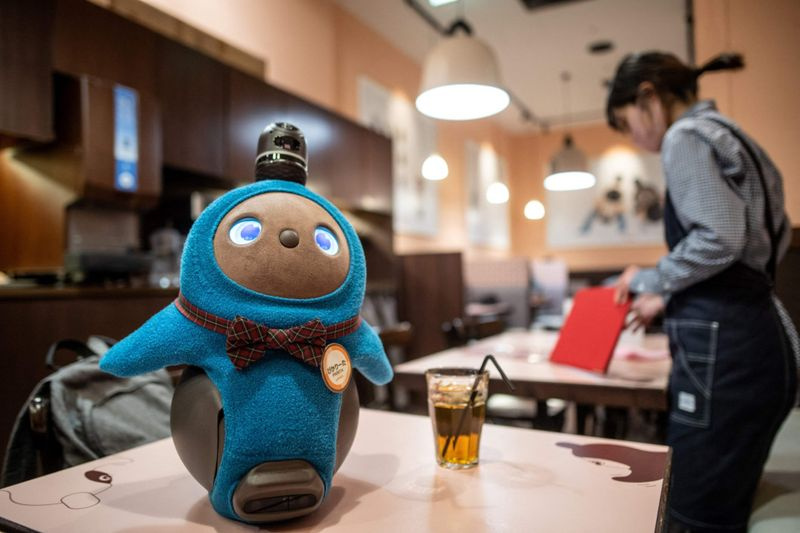 Look: Japan's android pets ease COVID-19 virus isolation