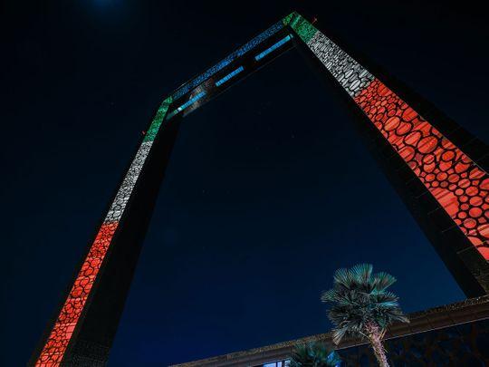 Photos: Dubai landmarks light up in flag colours to mark 60th Kuwait National Day