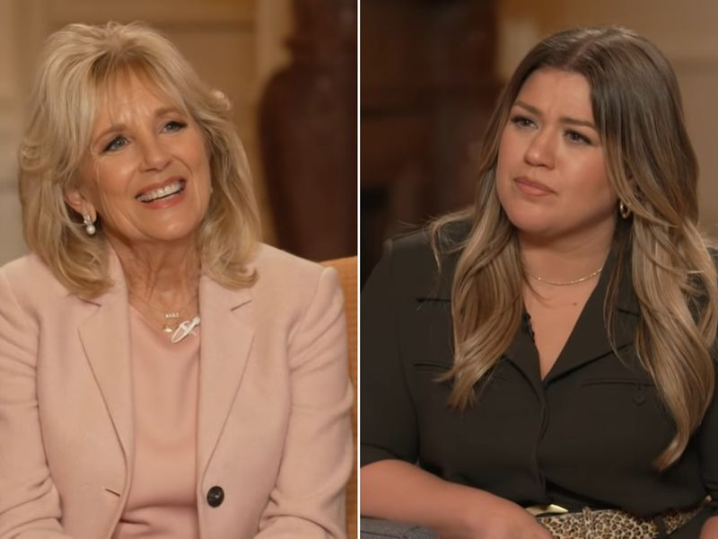 Jill Biden gives Kelly Clarkson advice about healing from divorce