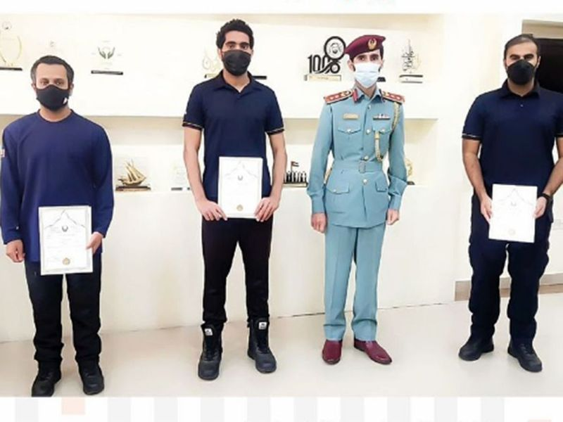 Sharjah Civil Defence personnel honoured for rescuing injured woman from Khor Fakkan mountains