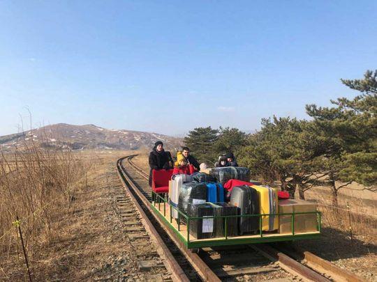 Russia diplomats rail trolley Korea