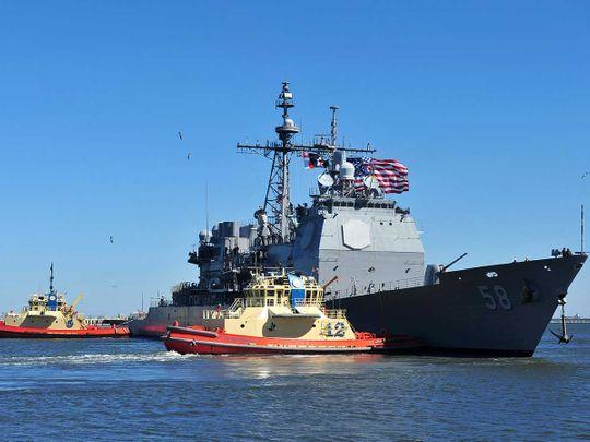 US Navy guided-missile cruiser USS Philippine Sea covid Bahrain